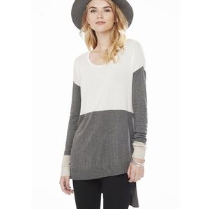 Express Colorblock Asymmetrical Sweater